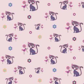 Flanel Cat light rosa
