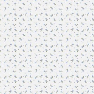 Flanel Spot Flowers blue