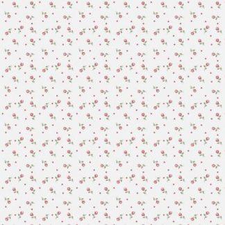 Flanel Spot Flowers rosa